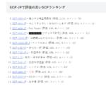 SCP-JPで評価の高い記事ランキング タイトル付き一覧 【2019年10月現在】